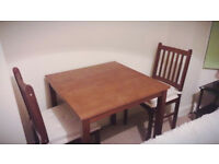 Brow Table & 2 chairs