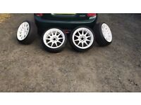 "17"" XXR 527 5x100 white alloy wheels vw seat skoda audi vag"