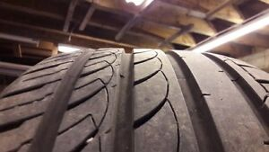 """18"""" & 17"""" Low profile summer tires with minimum 80% remaining"""