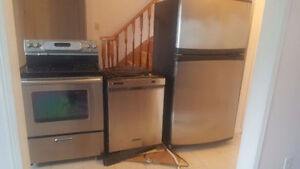 Brand new condition stainless steel appliances package for sale