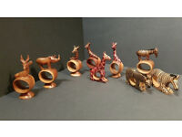 Hand Carved Wooden Jungle Animals - job lot