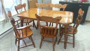Kitchen Table Set and Matching China Cabinet
