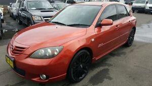 2003 Mazda 3 SP23 AXELA Orange 5 Sp Manual Hatchback Revesby Bankstown Area Preview