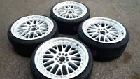 """NEW 18"""" CCW staggered reps(5x100/112/114/120)+ 215/35R18 tires"""