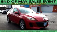 2012 MAZDA 3 GX ~ $0 DOWN 4.9% FINANCING OAC! GAS SAVER! Windsor Region Ontario Preview