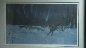 Randy Fehr Under the Arctic Lights Lithograph