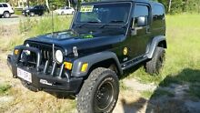 2005 Jeep Wrangler TJ MY2006 Golden Eagle Absolute Black 6 Speed Manual Softtop Noosaville Noosa Area Preview