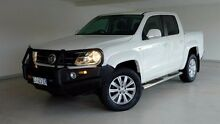2011 Volkswagen Amarok 2H TDI400 4Mot Highline White 6 Speed Manual Utility Hobart CBD Hobart City Preview