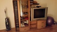 TV Unit with JCV TV included - NEGOTIABLE