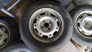 "FS: 14"" Steel Wheels Off An E30 BMW 4x100 Kitchener / Waterloo Kitchener Area image 1"