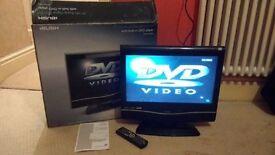 "Bush 19"" LCD TV, built in DVD player"