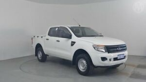 2012 Ford Ranger PX XL 2.2 HI-Rider (4x2) Cool White 6 Speed Automatic Crew Cab P/Up Perth Airport Belmont Area Preview