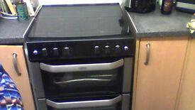 BELLING gas cooker in black