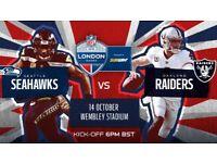 Seattle Seahawks vs Oakland Raiders 14th October 6pm kick off
