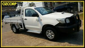 2011 Toyota Hilux KUN26R MY12 Workmate (4x4) White 5 Speed Manual Cab Chassis Homebush Strathfield Area Preview