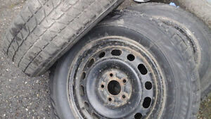 225/65 R 16 WINTER TIRES WITH HONDA CRV RIMS Prince George British Columbia image 1