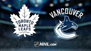 Toronto Maple Leafs at Vancouver Canucks March 6th 2019