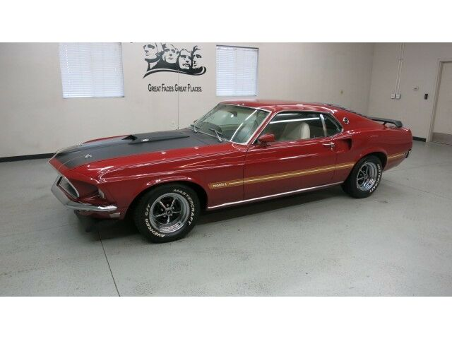 Ford : Mustang Mach 1 Fstbk 1969 Ford Mustang Mach 1 Fastback 351 Cleveland V-8,Auto, Factory Air, Documents