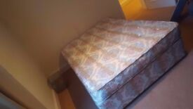 Free double bed with mattress