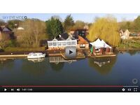 Prestigious boat mooring adjacent to the Beetle and Wedge Boathouse restaurant at Moulsford