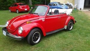 1979 VW Super Beetle Convertable - Fully restored