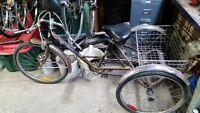 tricycle pour adulte projet besoin de réparation d'une peinture