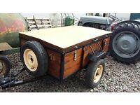 Wooden Box Lid Trailer