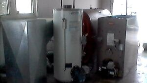 Used oil fired water heater, furnace and tank