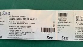 Emiliana Torrini + The Colorist, Islington Assembly Hall 2 tickets £20 each