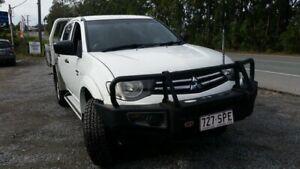 2012 Mitsubishi Triton MN MY12 GLX Double Cab White 5 Speed Manual Utility Stapylton Gold Coast North Preview