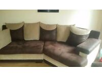 Corner sofa with matching two seater