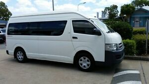 2009 Toyota Hiace KDH223R MY10 Commuter High Roof Super LWB White 5 Speed Manual Bus Acacia Ridge Brisbane South West Preview