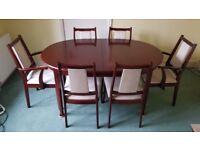 Mahogany dining table & 6 chairs