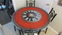 -------G-O-R-G-E-O-U-S !!!!   ---Red Clock Dining Set!!!