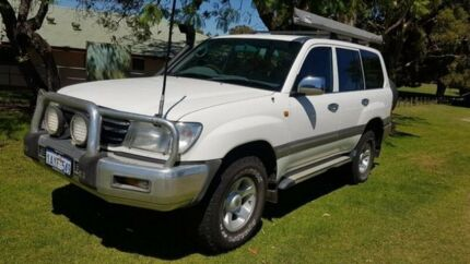 2001 Toyota Landcruiser FZJ105R 50th Anniversary GXL White 4 Speed Automatic Wagon Welshpool Canning Area Preview