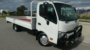 2012 Hino 300 XZU710R-HKTMSQ3 616 White Trayback 4009ccl 4x2 Bassendean Bassendean Area Preview