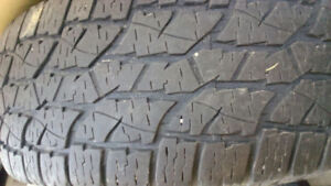 Single used truck tires 265/70R17 $50 70%left