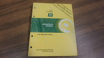 John Deere Operators Manual 4425 Combine B56