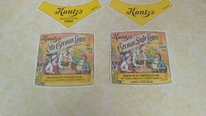 LABATT KUNTZ beer labels UNUSED circa 1989 London Ontario image 1