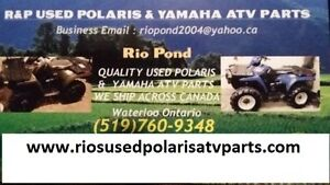 R&P USED POLARIS & YAMAHA ATV PARTS WE SHIP ACROSS CANADA