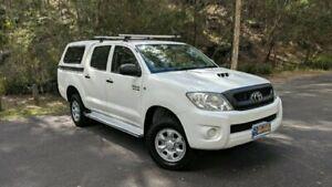 2011 Toyota Hilux KUN26R MY10 SR DUAL CAB White Manual Utility Springwood Logan Area Preview