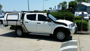 2011 Mitsubishi Triton MN MY12 GLX White 5 Speed Manual Cab Chassis Acacia Ridge Brisbane South West Preview