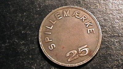 Denmark Token Forening Dansk Automat Branche 25 Spillemarke 978B6