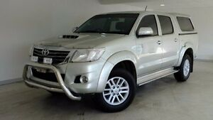2012 Toyota Hilux KUN26R MY12 SR5 Double Cab Silver 4 Speed Automatic Utility Hobart CBD Hobart City Preview