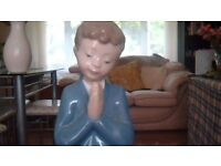 NAO figurine of boy praying in excellent condition