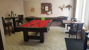 NEW SHUFFLEBOARDS, POOL TABLES, BARS, STOOLS FOR SALE