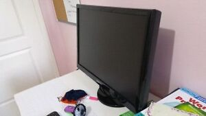 Samsung LCD  Widescreen HD monitor 24  inch with speakers