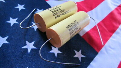 14uf 100v 5 West Cap W55285-3 Polyester Axial Capacitor 5910-01-252-7771 2pcs