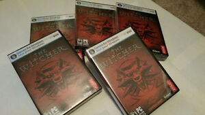 Lot of 5 - The Witcher Games for PC-New in original plastic wrap