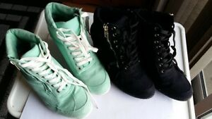 Ardene high top shoes Size 10